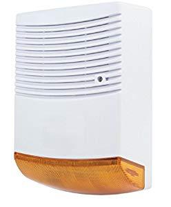 Eurosell IP44 Große Dummy Außensirene Sirene Alarmanlage Attrappe Alarmsystem Fake blinkende LED Außen – Gute Kameraattrappe
