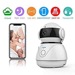 Fooyou WLAN IP Kamera 1080P HD Uberwachungskamera mit Nachtsicht Bewegungserkennung 2 Wege Audio Home Indoor Kamera Smart Baby Monitor – Tolles Gerät